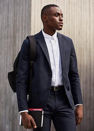 belle scarpe 100% autentico prezzi incredibili Look alla moda per uomo: Abito blu scuro, Camicia elegante ...