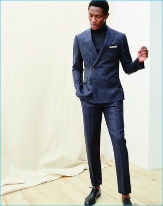 ... Look alla moda per uomo  Abito di lana blu scuro ea035a0dd79