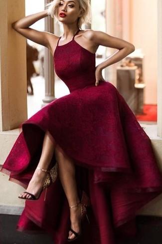 Vestiti Eleganti Bordeaux.Come Indossare E Abbinare Un Vestito Di Pizzo Bordeaux 63 Outfit