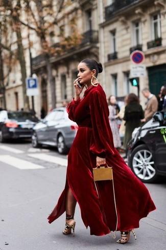 537e0286aac3 Come indossare un vestito di velluto rosso (24 foto)