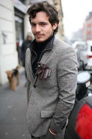 Come indossare e abbinare guanti di lana per un uomo di 30
