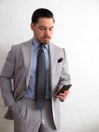codice promozionale 29db9 05d17 Look alla moda per uomo: Abito grigio, Camicia elegante a ...
