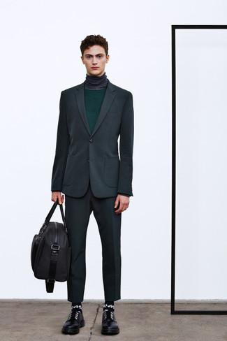 cheap for discount 3d508 f0b3b Look alla moda per uomo: Abito grigio scuro, Maglione ...