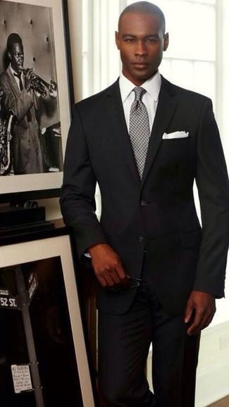 ... Look alla moda per uomo  Abito nero 56025ba20d8