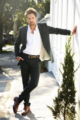 Super carino comprare popolare risparmia fino al 60% Look alla moda per uomo: Abito nero, Camicia elegante bianca ...
