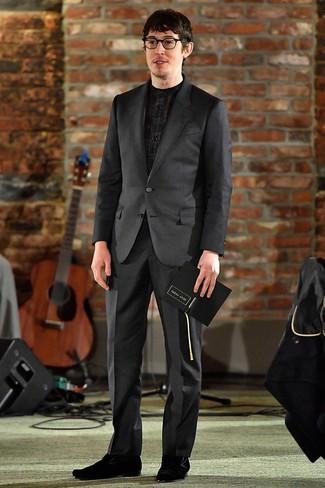newest 1ae4c 6c9c3 Look alla moda per uomo: Abito nero, Camicia elegante ...