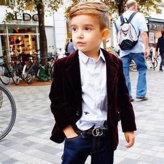 Camicia a maniche lunghe bianca di Little Marc Jacobs