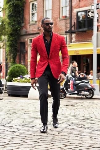 indossare foto Quale 36 con pantaloni eleganti rossa una giacca qfq8gEArwH