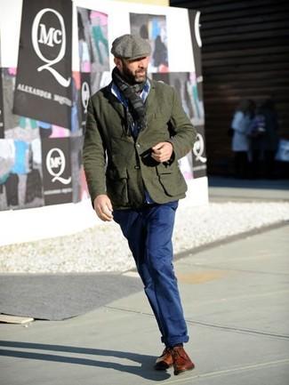 Come indossare  blazer di lana verde oliva 76744a0482c1