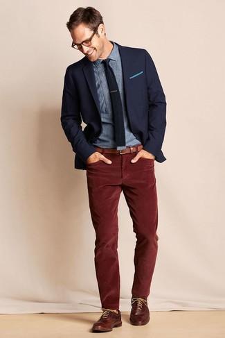 velluto Come uomo Moda a di coste foto Jeans bordeaux indossare 12 rtqfw6Pr