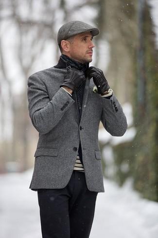 Come indossare una coppola grigia (66 foto)  9a7c254aee93