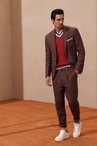 Indossare Maglione Un Lookastic Rosso Come Moda Uomo Foto 319 Oxdqnn
