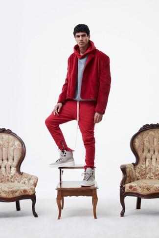 4cebee0269 Come indossare pantaloni sportivi rossi (27 foto) | Moda uomo ...