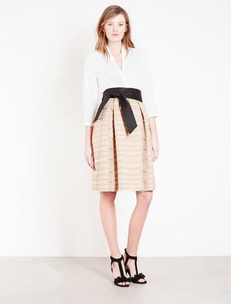 brand new 0e283 314fd Look alla moda per donna: Camicetta manica lunga bianca ...