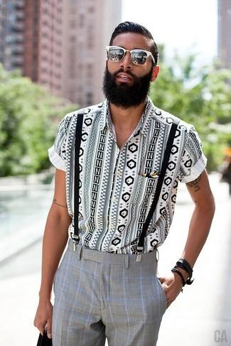 ultima collezione vendita ufficiale più recente Look alla moda per uomo: Camicia a maniche corte geometrica ...