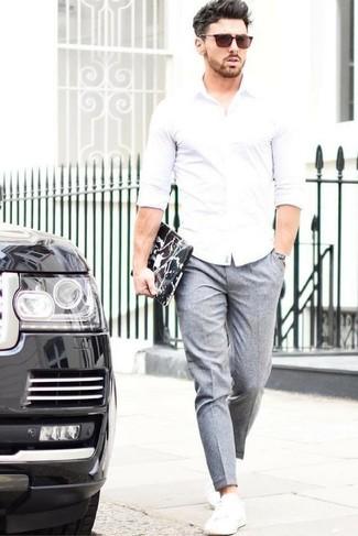 Pantaloni Indossare 241 Con Grigi Foto Bianche Moda Come Scarpe pYxwqt5gYd