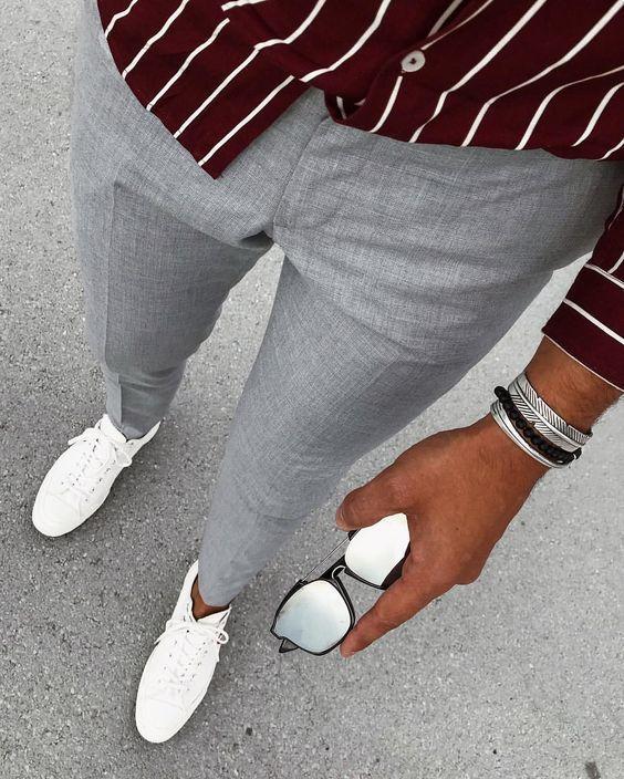 Scarpe FotoModa Grigi Come Indossare Pantaloni Con Bianche273 80OPknXw