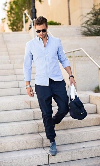 Camicia Con Maniche Pantaloni Lunghe Blu A Indossare Quale Sportivi MVUzpqS
