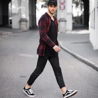 b60b27d6a88db3 ... Look alla moda per uomo: Camicia a maniche lunghe di flanella a quadri  rossa e