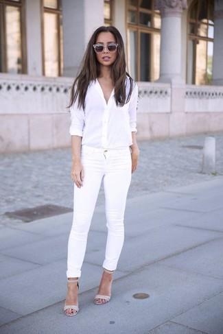 ... Look alla moda per donna  Camicia elegante bianca fffc500d8a8