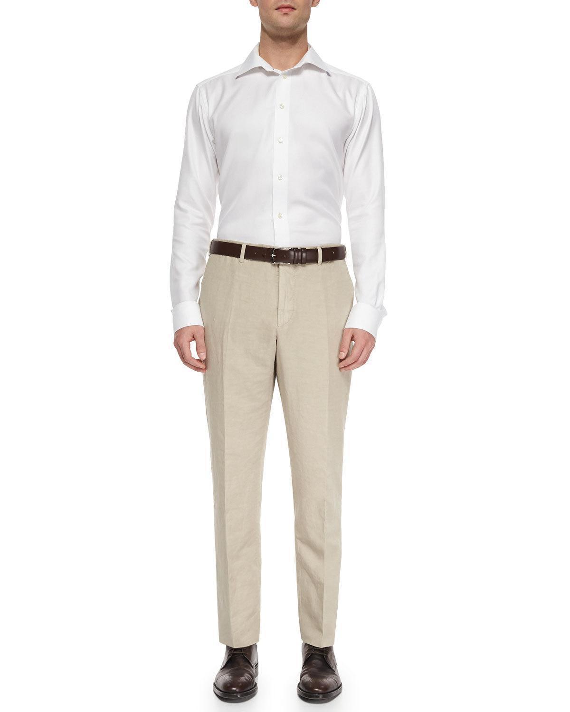 Look alla moda per uomo  Camicia elegante bianca a4900171ea2