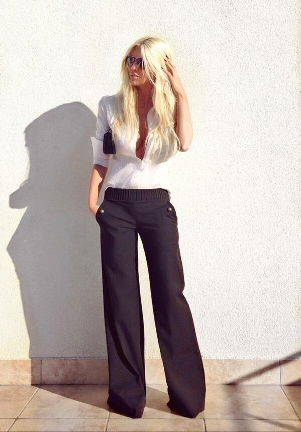 Eccezionale Come indossare pantaloni larghi neri: 67 modi per indossare  VO26