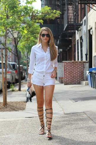 3ee3a284826dac ... Look alla moda per donna  Camicia elegante bianca
