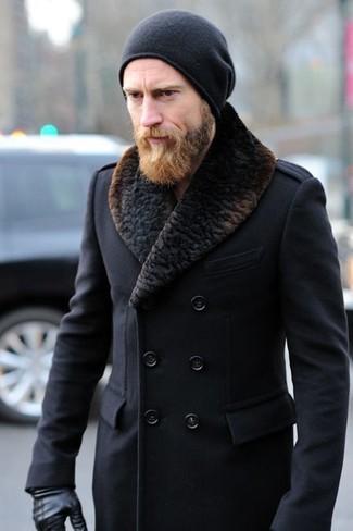 new style a7bd1 c9226 Look alla moda per uomo: Cappotto con collo di pelliccia ...