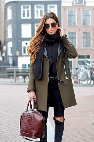 ... Look alla moda per donna  Cappotto verde oliva eb9144cbdab