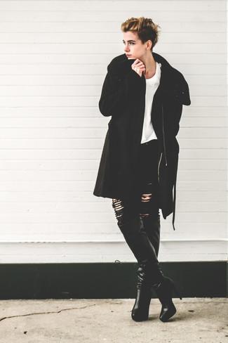 Cappotto nero di Benetton