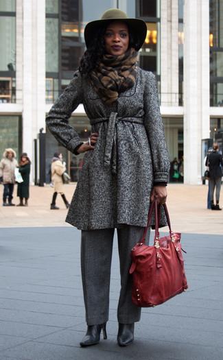 Cappotto grigio scuro di Benetton