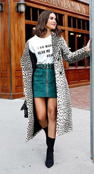 ... Look alla moda per donna  Cappotto leopardato bianco e nero 3531d1c3aa9
