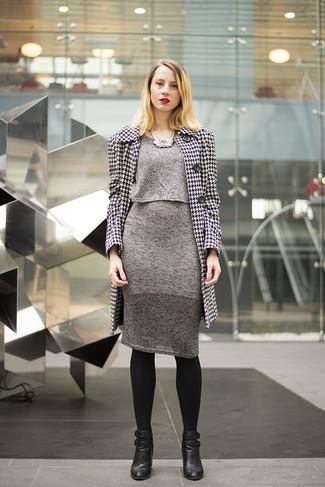 Look alla moda per donna: Cappotto con motivo pied de poule