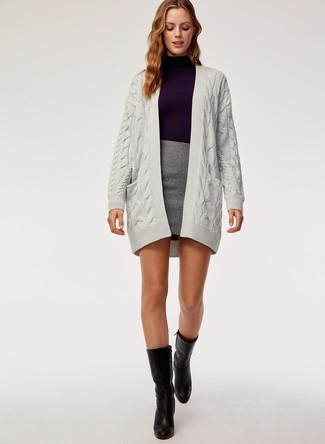 Come indossare e abbinare stivali al polpaccio (149 outfit