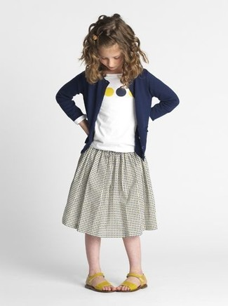 Cardigan blu scuro di Little Marc Jacobs