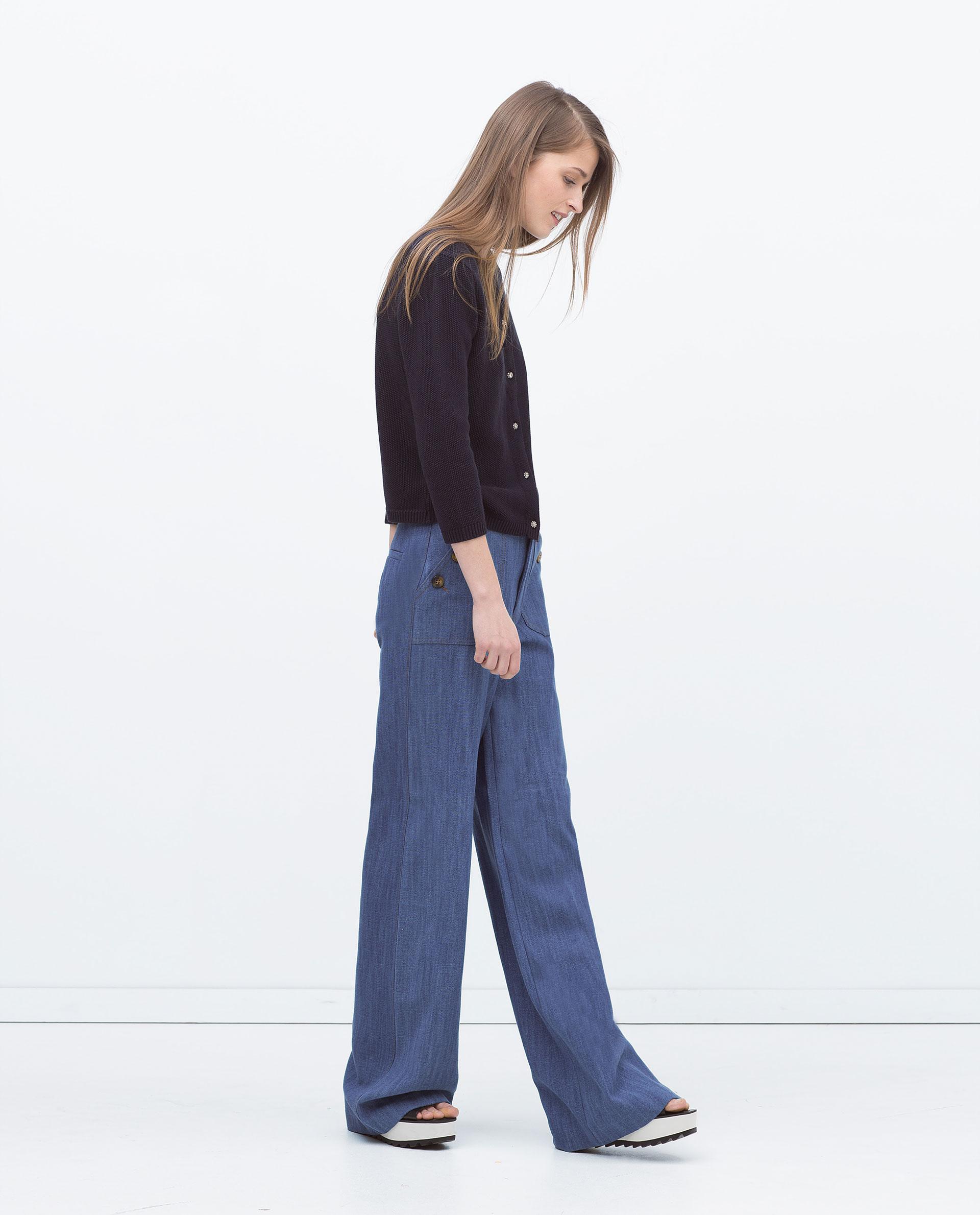 Top Come indossare pantaloni larghi blu: 34 modi per indossare  EK78