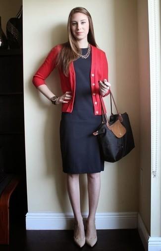 quality design 0247f 66711 Look alla moda per donna: Cardigan rosso, Vestito a tubino ...