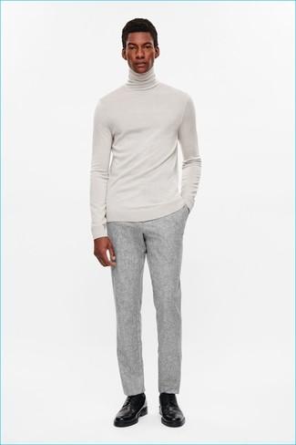 official photos 6f94a 14dc2 Look alla moda per uomo: Dolcevita grigio, Pantaloni ...
