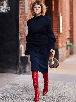 huge discount cb9f4 e00c7 Come indossare e abbinare stivali rossi (258 foto) | Moda ...