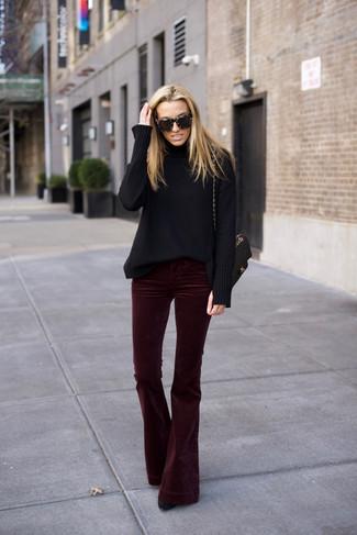 Velluto Indossare Moda Pantaloni 4 Di Rossi Donna Come Foto gOBtqxxZ