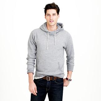 premium selection 9669d 39a5e Look alla moda per uomo: Felpa con cappuccio grigia, T-shirt ...