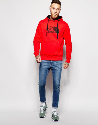 Uomo Uomo Rossa Rossa Outfit Felpa Rossa Felpa Uomo Felpa Outfit Outfit Outfit yb7f6g