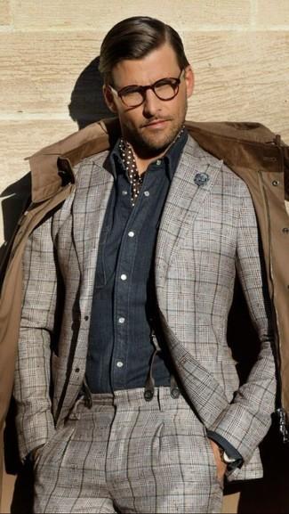 Come indossare una sciarpa di seta marrone (6 foto)  bdb444b85691