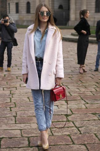 Look alla moda per donna: Giacca da marinaio rosa, Blusa