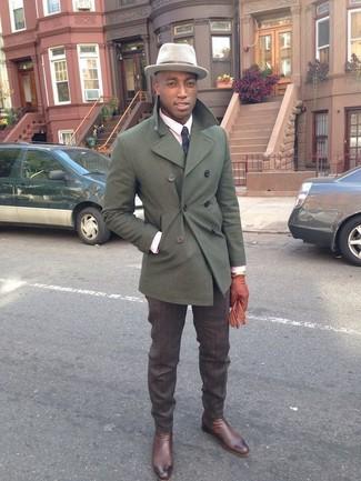 buy online 2a2b1 b0848 Look alla moda per uomo: Giacca da marinaio verde oliva ...
