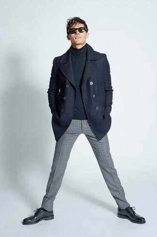 ... Look alla moda per uomo  Giacca da marinaio blu scuro 5c1e3440e61
