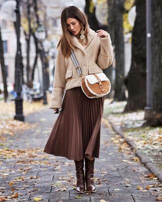 taglia 40 18557 c9888 Come indossare e abbinare una gonna marrone scuro (112 foto ...