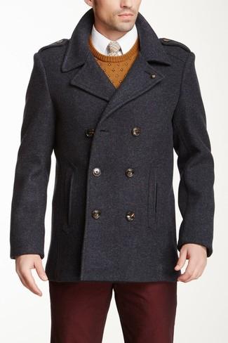 Look alla moda per uomo: Giacca da marinaio grigio scuro