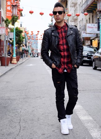jeans e camicia e giacca uomo
