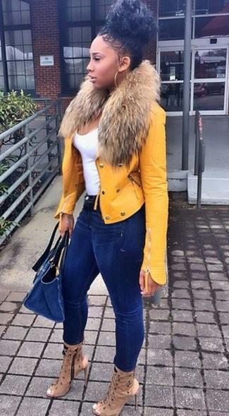 Giacca gialla di Vaude